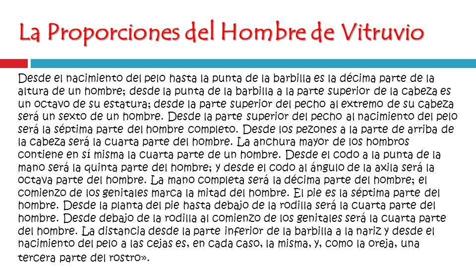 La Proporciones del Hombre de Vitruvio