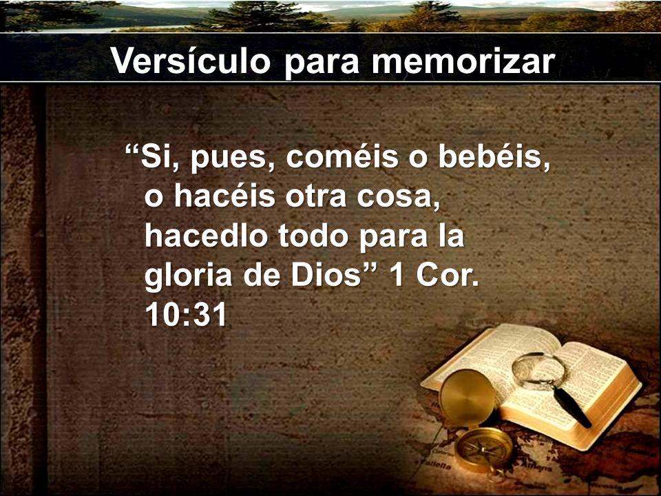 Versículo para memorizar