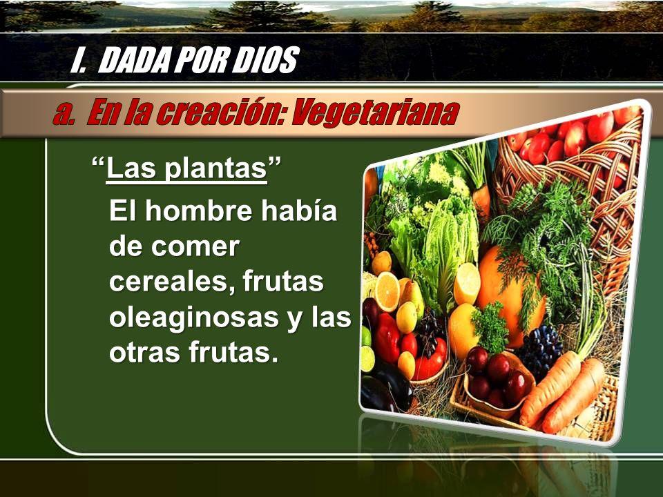 a. En la creación: Vegetariana