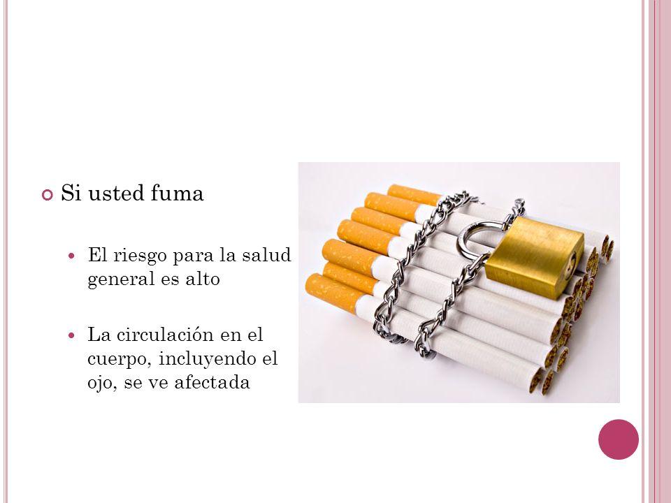 Si usted fuma El riesgo para la salud general es alto