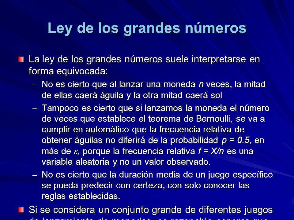Ley de los grandes números