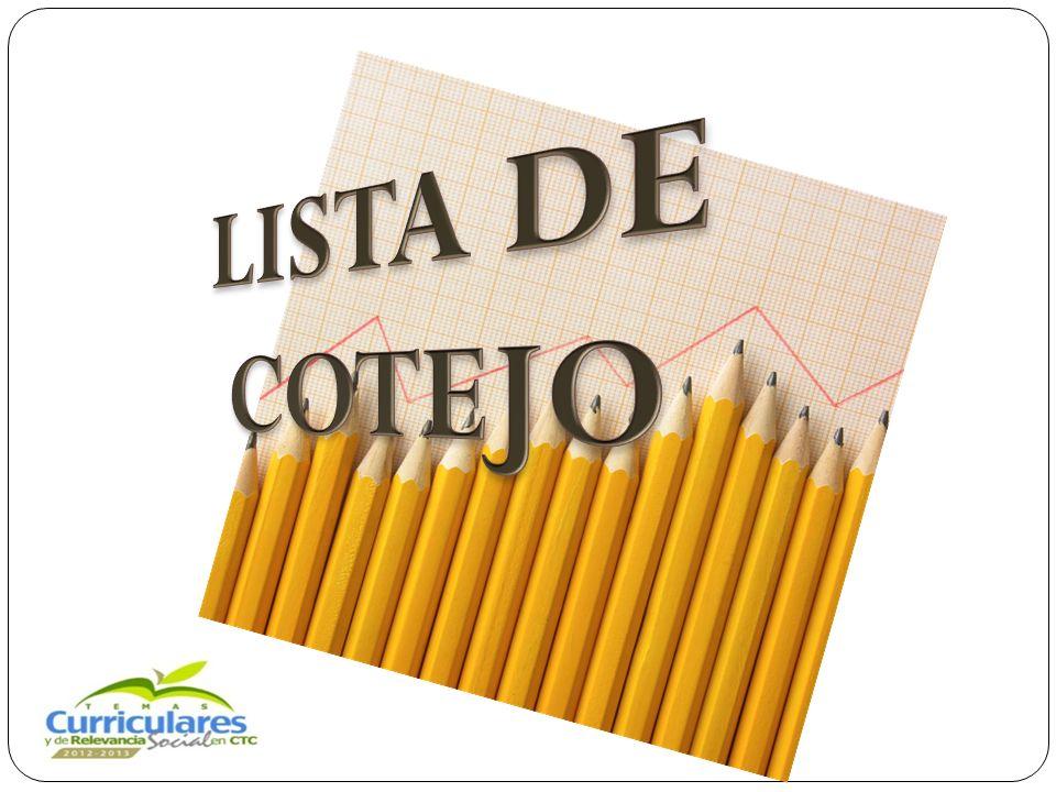 LISTA DE COTEJO