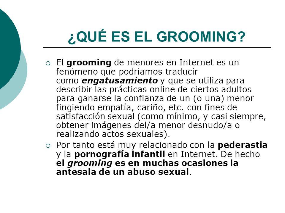 ¿QUÉ ES EL GROOMING