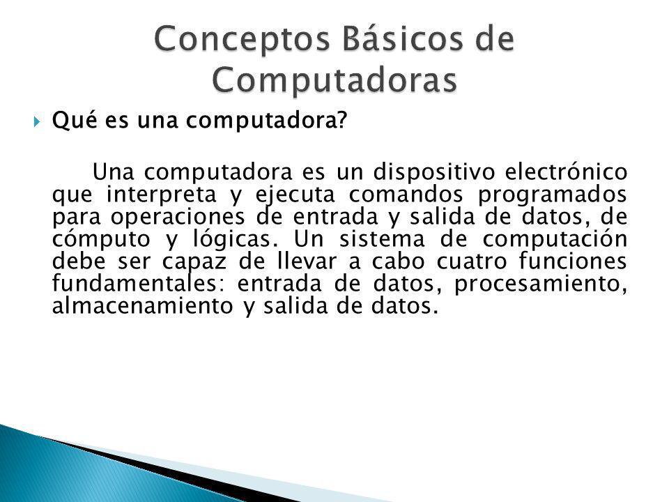 Conceptos Básicos de Computadoras