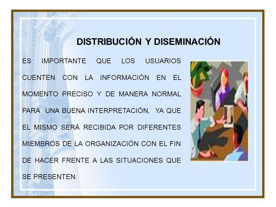DISTRIBUCIÓN Y DISEMINACIÓN