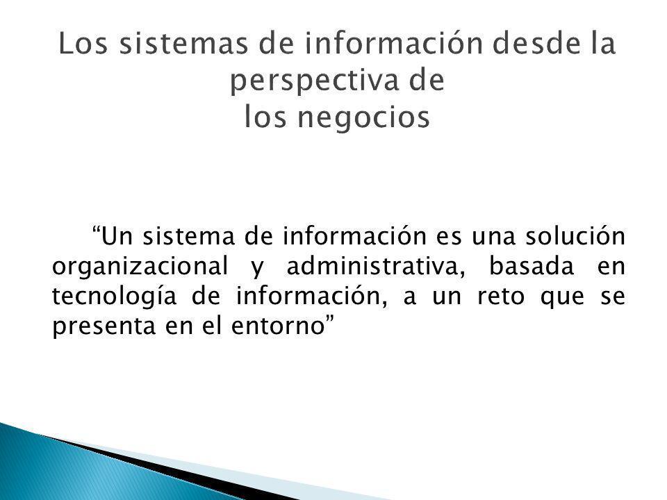 Los sistemas de información desde la perspectiva de los negocios