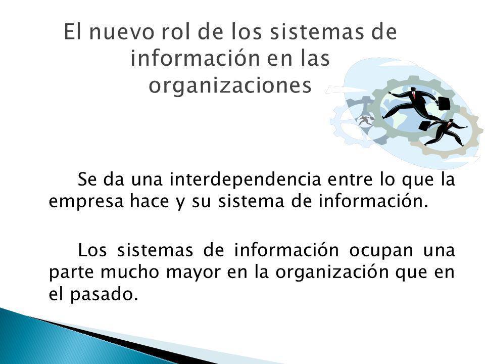 El nuevo rol de los sistemas de información en las organizaciones