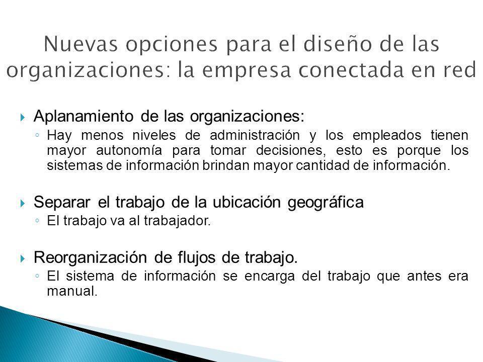 Nuevas opciones para el diseño de las organizaciones: la empresa conectada en red