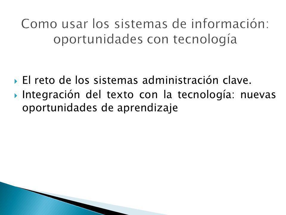 Como usar los sistemas de información: oportunidades con tecnología
