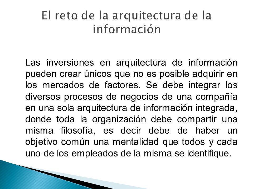 El reto de la arquitectura de la información