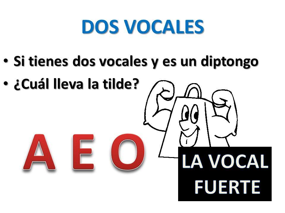 A E O DOS VOCALES LA VOCAL FUERTE