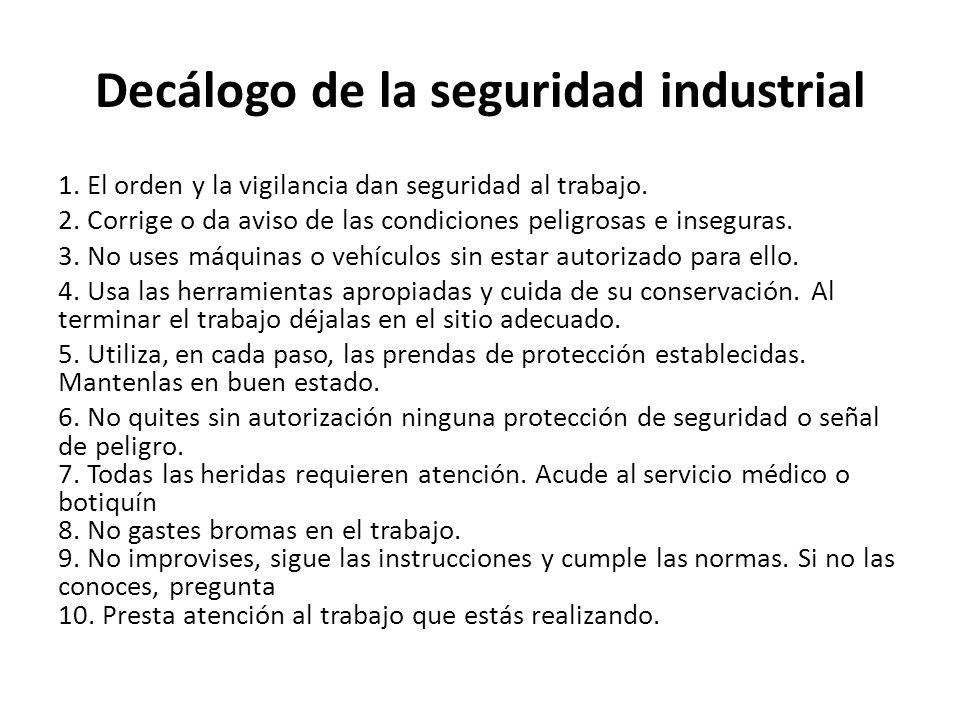 Decálogo de la seguridad industrial