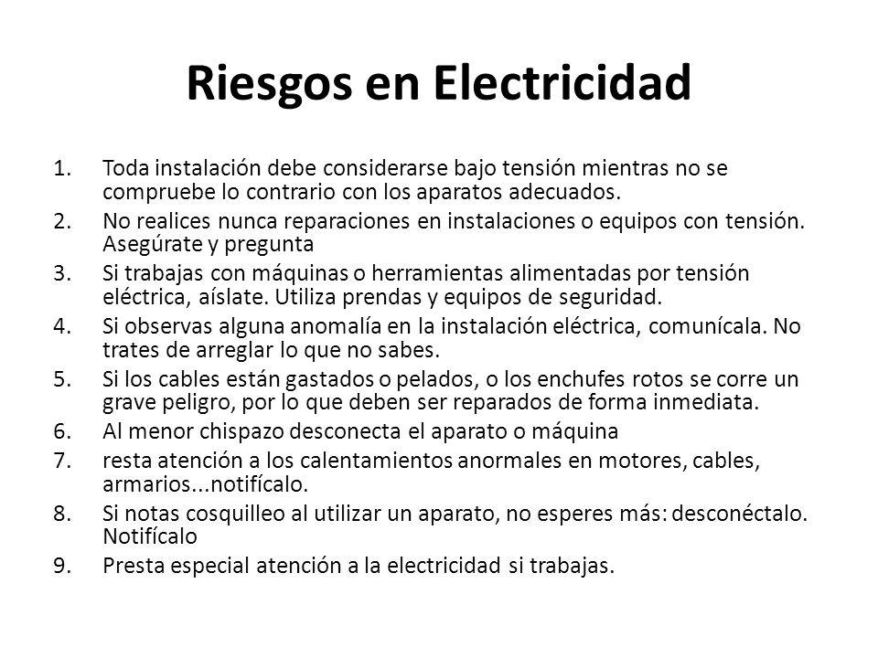Riesgos en Electricidad