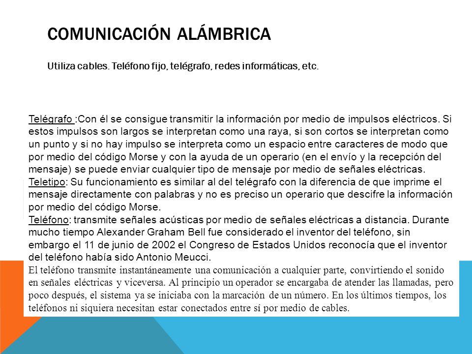 COMUNICACIÓN ALÁMBRICA
