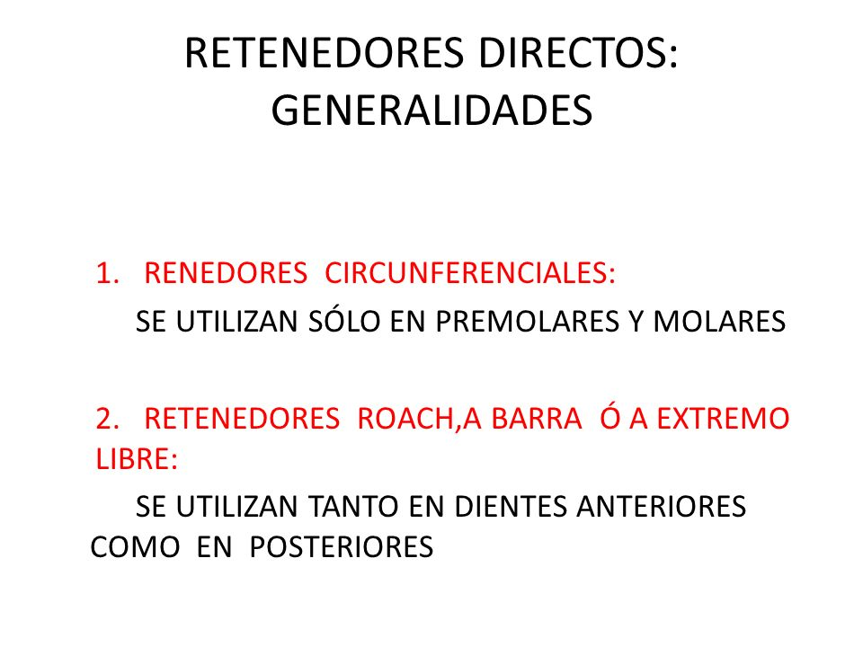 RETENEDORES DIRECTOS: GENERALIDADES