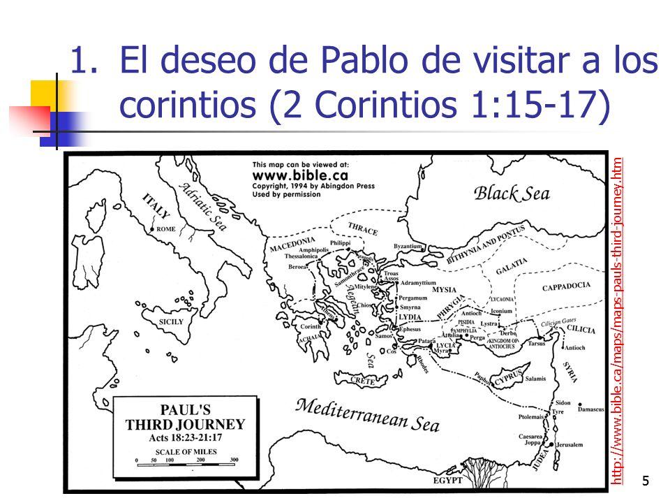 El deseo de Pablo de visitar a los corintios (2 Corintios 1:15-17)