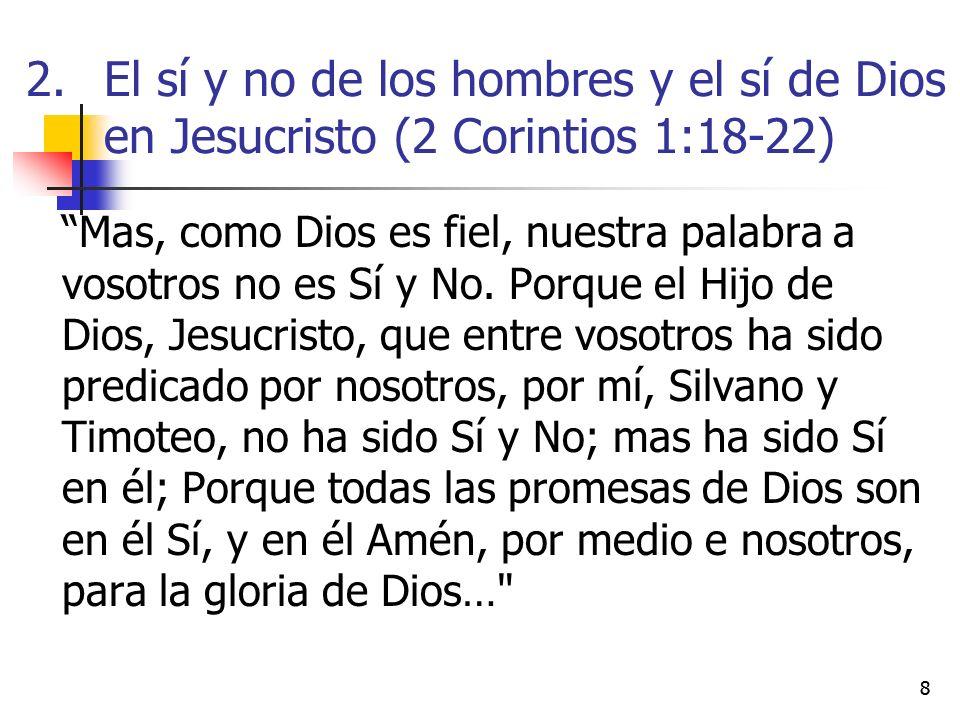 El sí y no de los hombres y el sí de Dios en Jesucristo (2 Corintios 1:18-22)