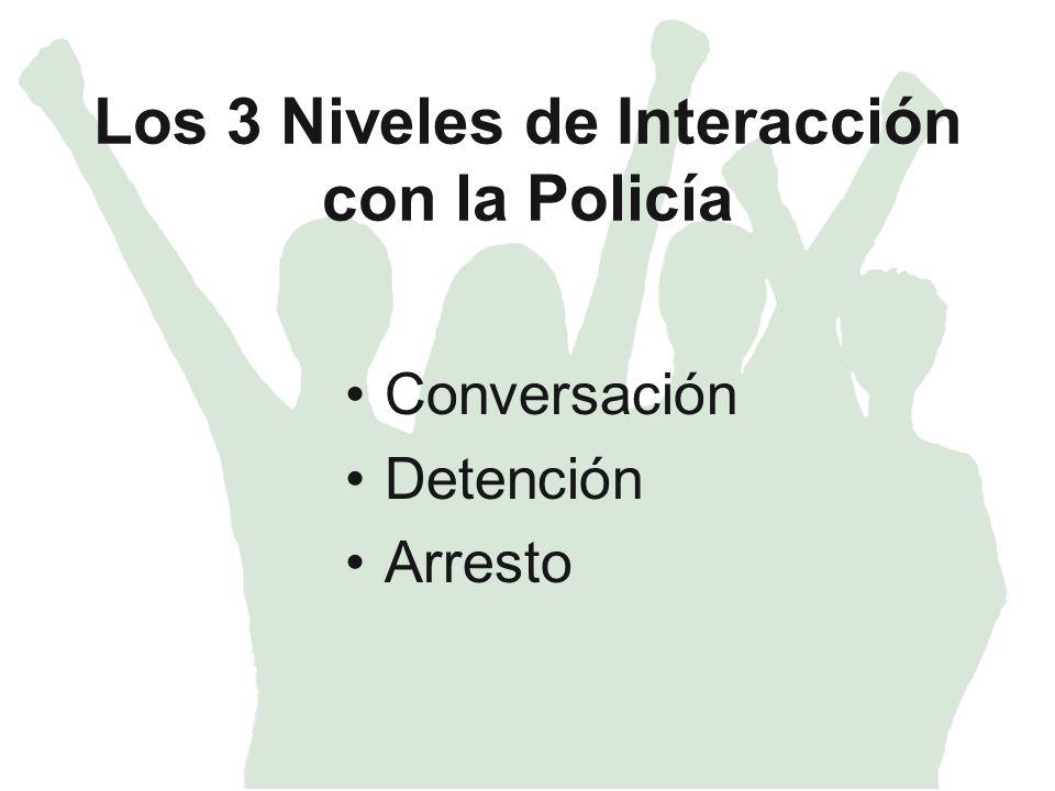 Los 3 Niveles de Interacción con la Policía