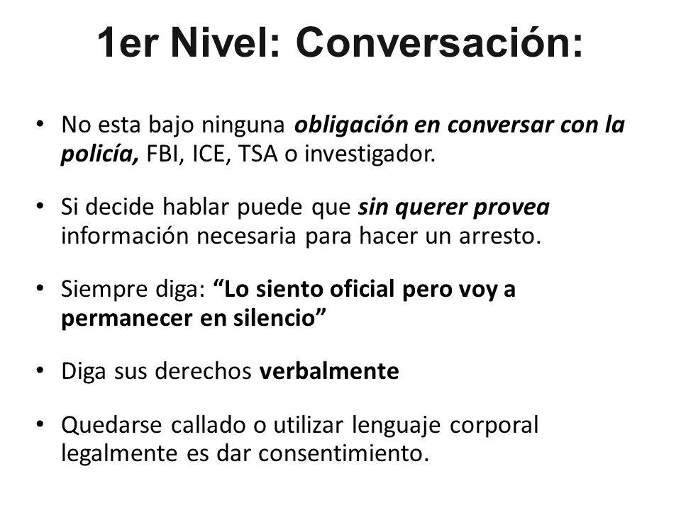 1er Nivel: Conversación: