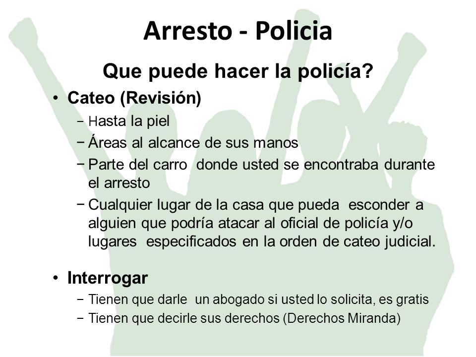 Que puede hacer la policía