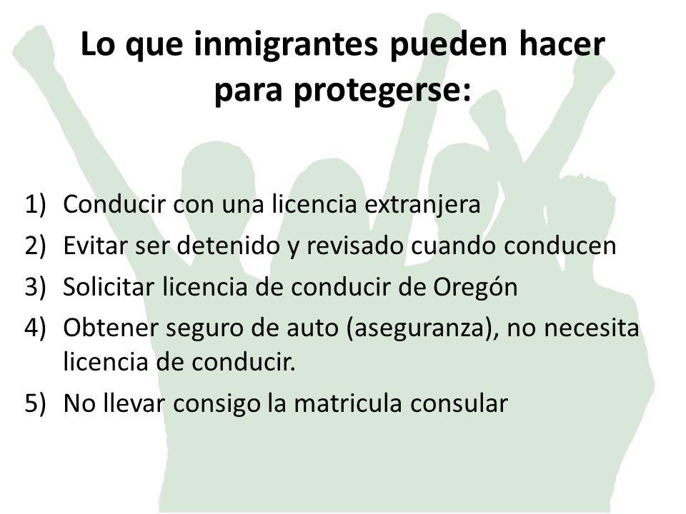 Lo que inmigrantes pueden hacer para protegerse: