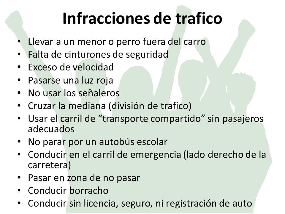 Infracciones de trafico