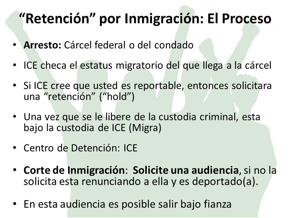 Retención por Inmigración: El Proceso