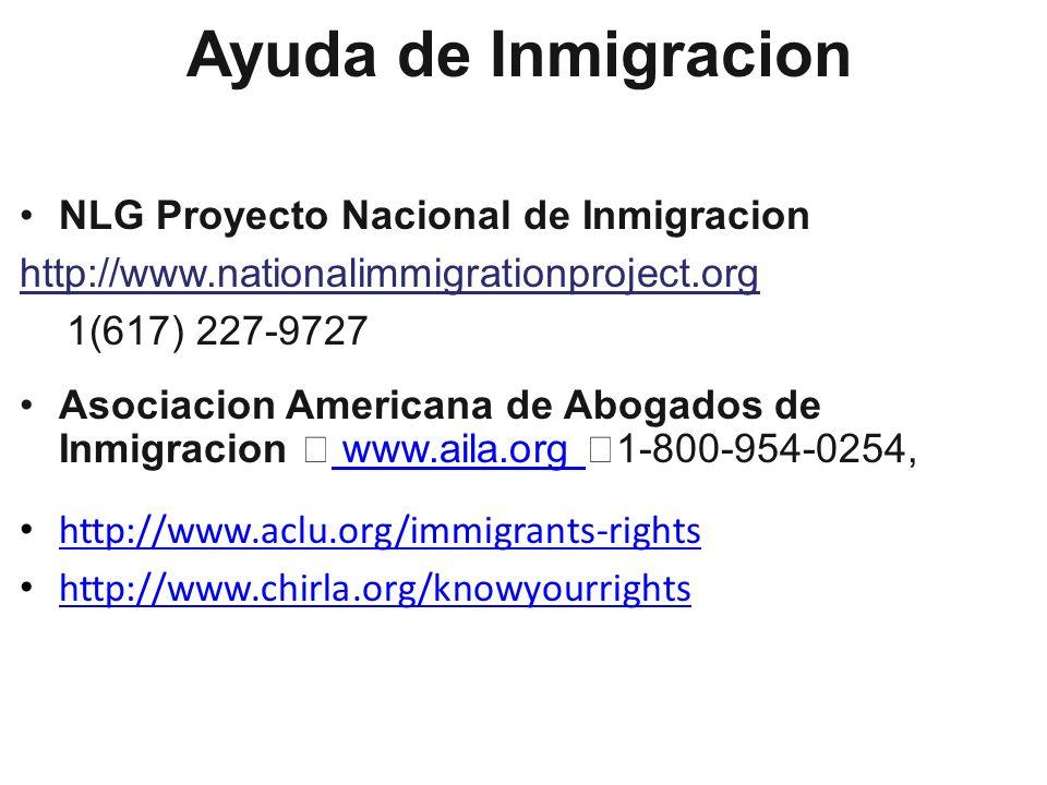 Ayuda de Inmigracion NLG Proyecto Nacional de Inmigracion
