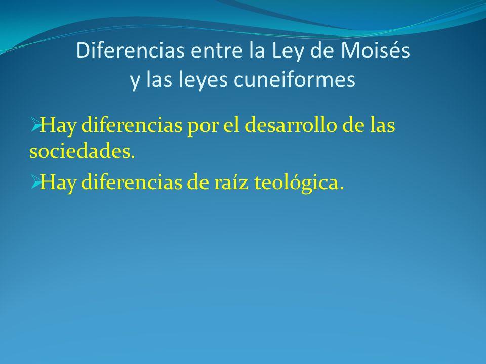 Diferencias entre la Ley de Moisés y las leyes cuneiformes