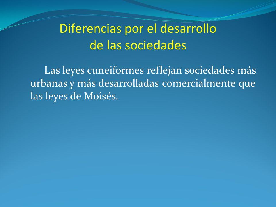 Diferencias por el desarrollo de las sociedades