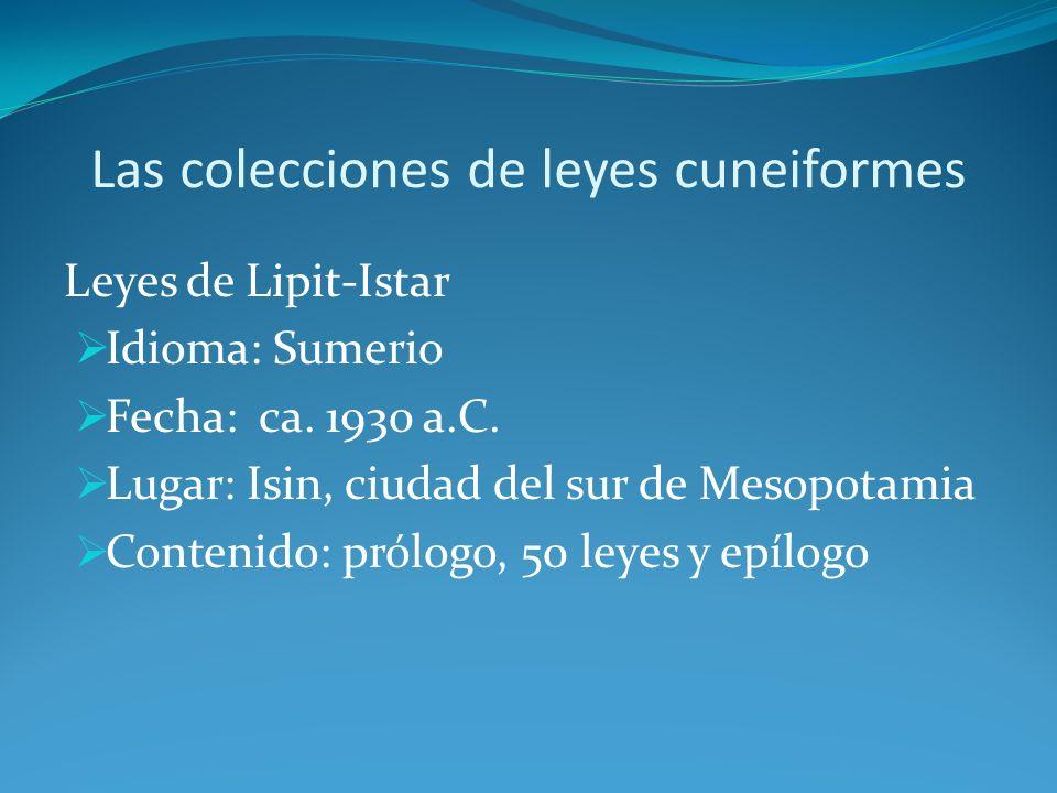 Las colecciones de leyes cuneiformes