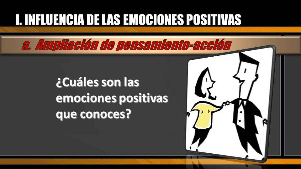¿Cuáles son las emociones positivas que conoces