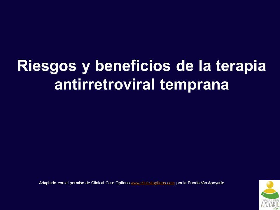 Riesgos y beneficios de la terapia antirretroviral temprana