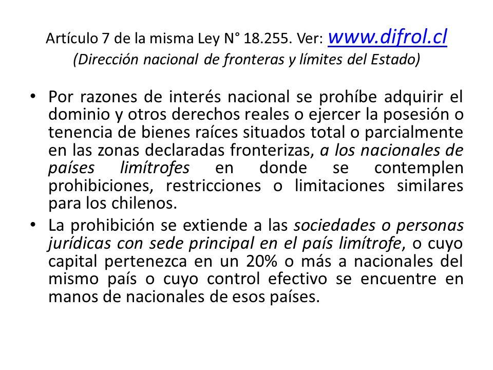 Artículo 7 de la misma Ley N° 18. 255. Ver: www. difrol
