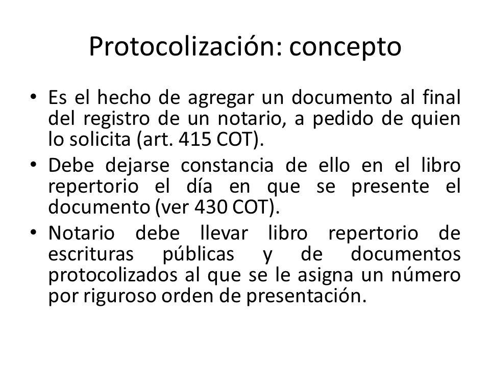 Protocolización: concepto