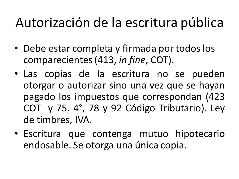 Autorización de la escritura pública