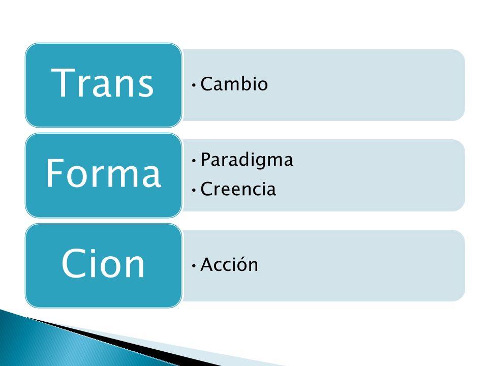 Trans Cambio Forma Paradigma Creencia Cion Acción