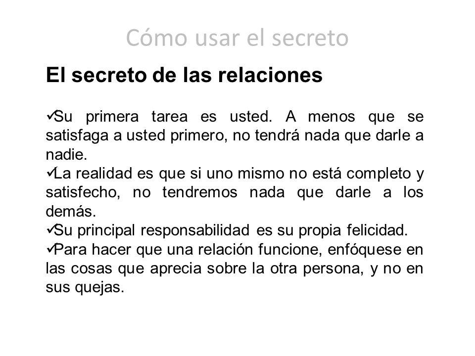 Cómo usar el secreto El secreto de las relaciones