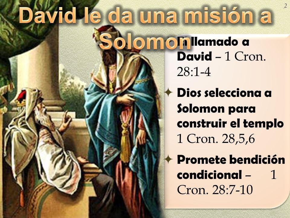 David le da una misión a Solomon
