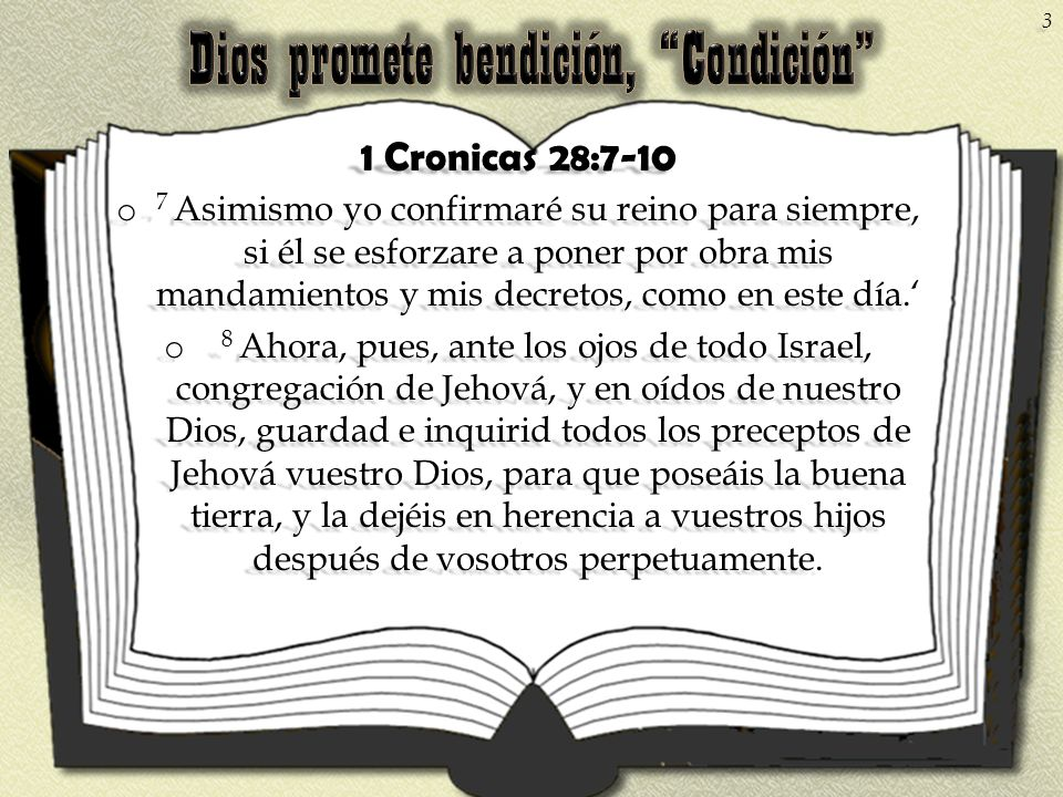 Dios promete bendición, Condición