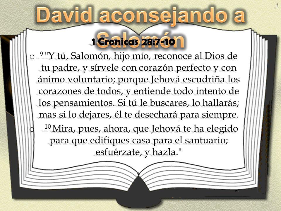 David aconsejando a Salomón