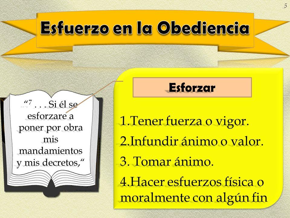 Esfuerzo en la Obediencia