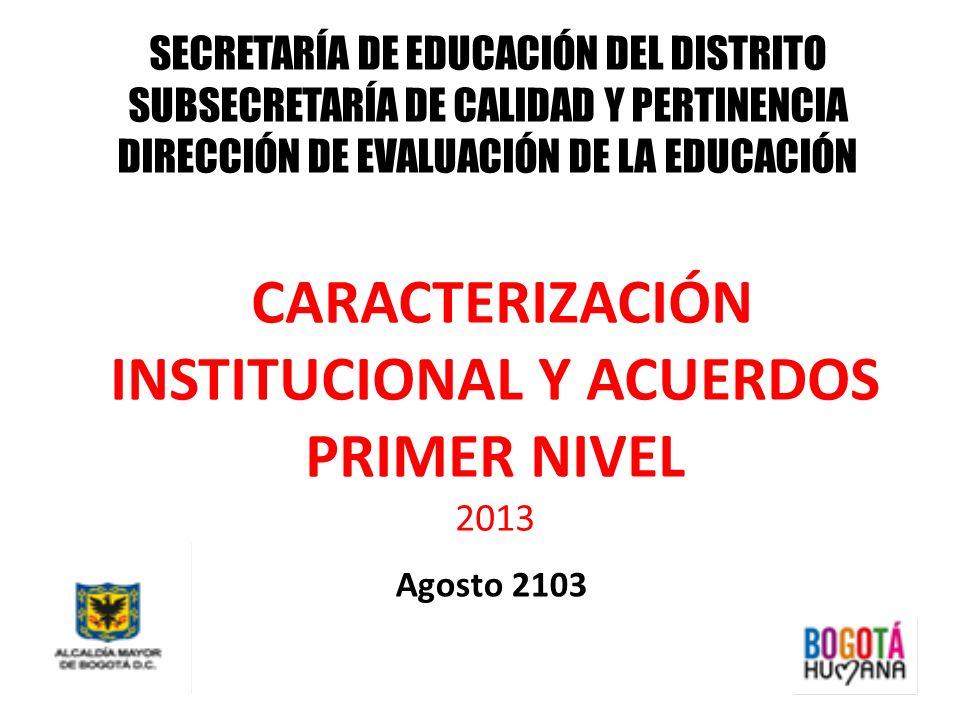 CARACTERIZACIÓN INSTITUCIONAL Y ACUERDOS PRIMER NIVEL