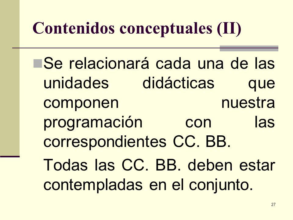 Contenidos conceptuales (II)