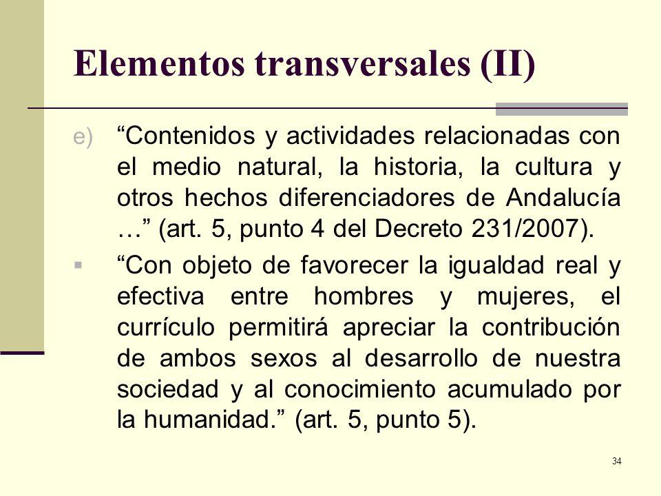 Elementos transversales (II)