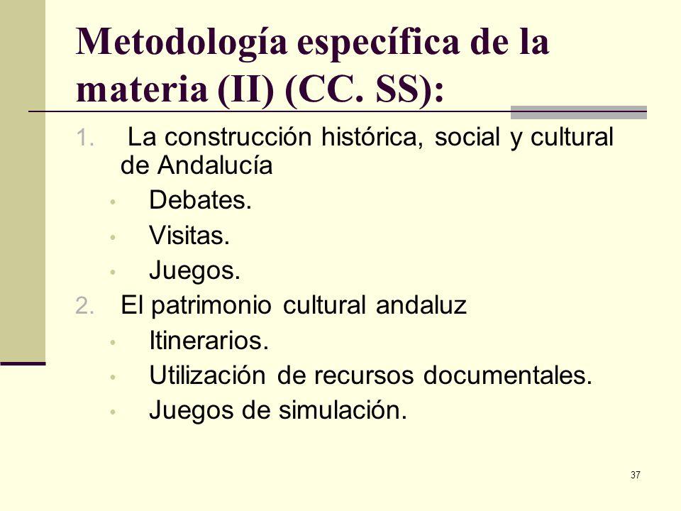 Metodología específica de la materia (II) (CC. SS):