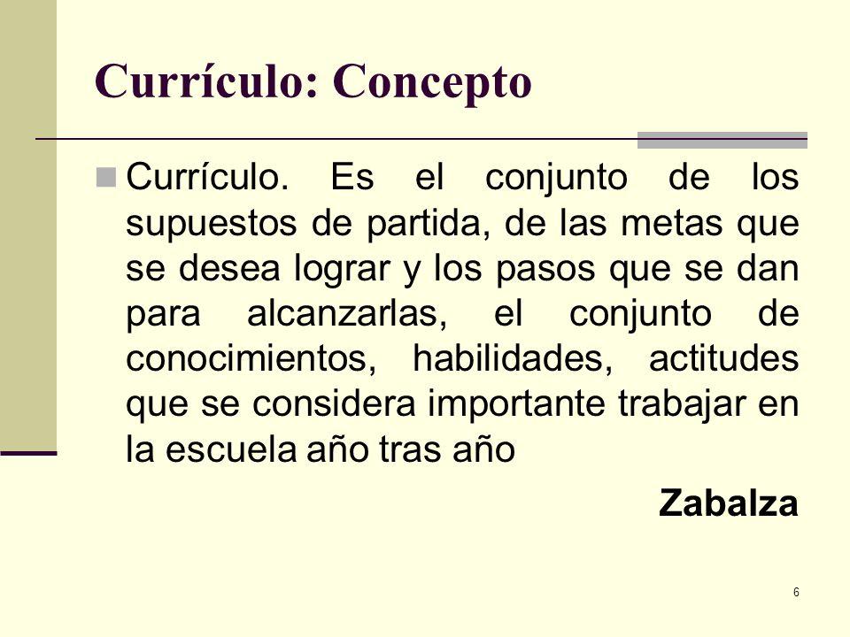 Currículo: Concepto