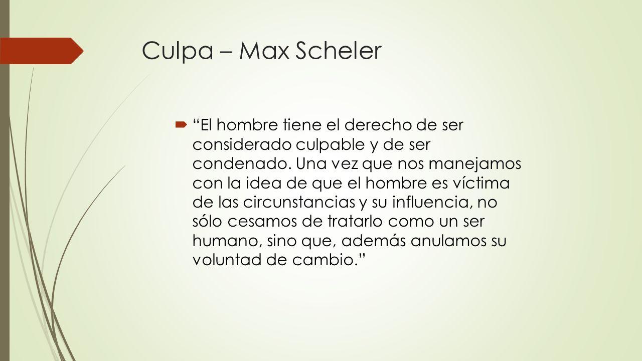 Culpa – Max Scheler