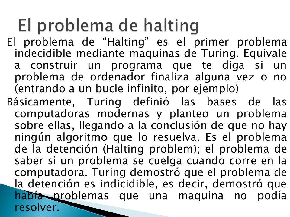 El problema de halting