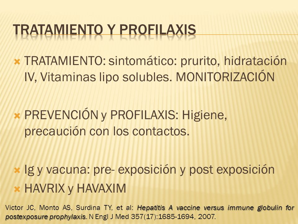 Tratamiento y profilaxis